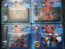 kids spiderman watch and wallet set