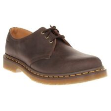 New Mens Dr. Martens Brown 1461 Leather Shoes Modern Classics Lace Up