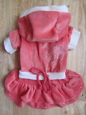 Cute ~ Salmon Pink Dog dress Dog Hoodies Clothes Size M L for small dog Only