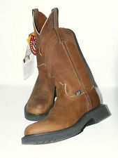 USA- Justin Men's Aged Bark Western Pull-On Work Boot Double Comfort 4865 $172