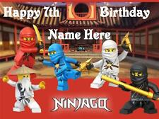 Ninjago edible icing cake toppers. View 3 images Select + personalise!