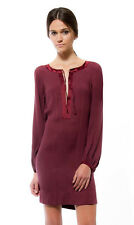 Twelfth St. by Cynthia Vincent | Long Sleeve Tie Front Shift - Cognac