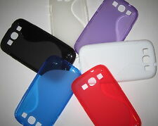 SAMSUNG GALAXY S3 i9300 SILICONE GEL PHONE COVER CASE S-LINE DESIGN