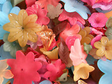 Lucite Flowers and Leaves 35 grams Mixed Colours and Styles