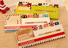 120 Page Cute Animal Sticker Post-It Bookmark Marker Memo Index Tab Notes GB