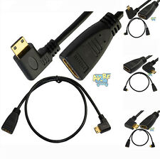 60cm 2Ft HDMI 1.4 Female to HDMI Male Plug Angle 90 Degree Cable Adapter HDTV