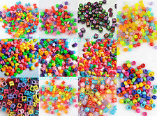 200 PCS Star Heart Various Charms Beads Rainbow Rubber Loom Bands Bracelet Kits
