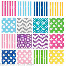 Paper 33cm NAPKINS Party Tableware Spots & Stripes Events Catering x16