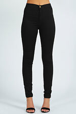 Miss Foxy Black Coloured Skinny Slim Fitted High Waisted Jeans Size 8-14
