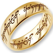 "Original Lord of the Rings Jewelry ""The One Ring"" Yellow Gold 750 polished"