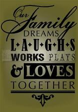 FAMILY TOGETHER Vinyl Wall Saying Lettering Quote Decoration Decal Sign Craft