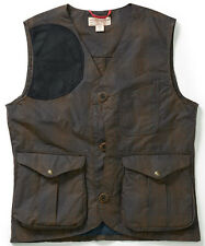 FILSON Waxed Cotton Tartan Pattern Guide Vest - MADE IN USA