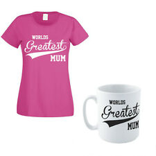 WORLDS GREATEST MUM - Mother / Mummy / Gift Idea / Women's T-shirt & Mug Set