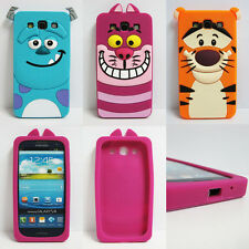 3D Cute Cartoon Tiger Sulley Cat Soft Case Cover For Samsung Galaxy S3 III I9300