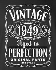 65th Birthday Gift  - Vintage 1949 Aged To Perfection T-shirt cool S-5