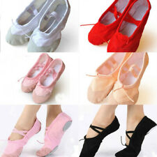 Child Adult Canvas Ballet Dance Shoes Slippers Pointe Dance Gymnastics #20 Size