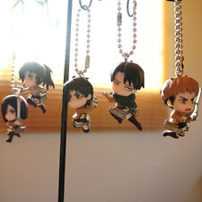 Swing Key Chain Figure - Attack on Titan - Levi Eren Mikasa Jean Sasha - BANDAI