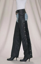 Women's Chaps Soft Top Grade Cowhide Leather Stud, Beaded, Fringe, Fashion C324