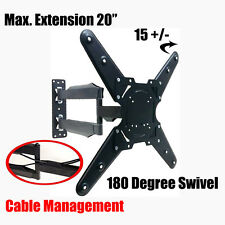 "New Sturdy Single Arm Full Motion TV Wall Mount Bracket for 26"" - 55"" Screens"