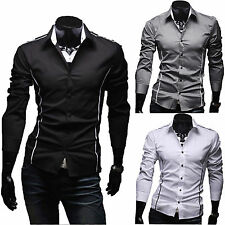Men's Luxury Casual Slim Fit Shirt Stylish Long Sleeve Dress Formal Shirts TOPS