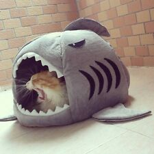 Comfortable shark pet bed for small dogs and cats plush pet shouse nest house