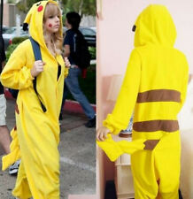 Pikachu Kigurumi Pajamas Pokemon Costume Animal Cosplay Pyjamas Adult Onesie
