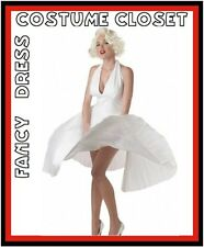 Marilyn Monroe Hollywood Silver Screen Dead Celebrity Fancy Dress Costume 1950s