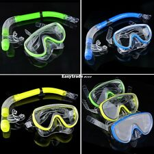 ADULTS MASK & SNORKEL SET ULTRA CLEAR SNORKELLING SWIMMING SCUBA DIVING ESY1