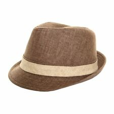 High Quality Adults Unisex Summer 100% Cotton Trilby Hat NEW
