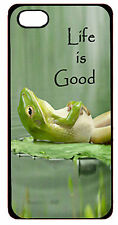 Apple iPhone 4 4s or 5 5s 6 6 plus Life is Good Frog Fitted Case