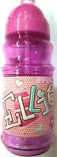GIRLS PERSONALISED NAMED AND GENERAL DRINKS BOTTLE FLASK CUP WITH POP OUT STRAW