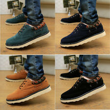 Original Design Men's Suede High Flat Heel Lace Up Casual Shoes Fashion Sneaker