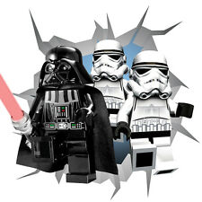 Lego Star Wars Darth Vader/Stormtroopers Adhesive Sticker Decal Print Wall Crack