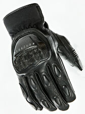 Joe Rocket Mens Speedway Black Leather Motorcycle Riding Gloves
