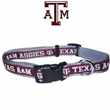 NCAA Pet Fan Gear TEXAS A&M AGGIES Dog Collar Collars for Dog Dogs Puppy