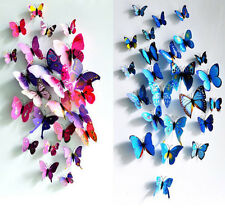 3D Vivid Butterfly Art Wall Stickers Room Fridge Decor Removable multi Color