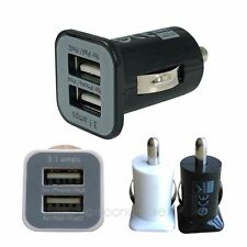 Universal Mini Bullet Dual USB 2 Port Car Charger Adapter For iPhone 4 4s 5 5s