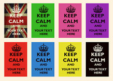 KEEP CALM AND *Any Text* Personalised Custom POSTER Print * Glossy High Quality