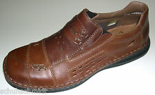 Rieker Men's Shoes Antistress Slippers Item 08457 Armin Brown Leather Extra Wide