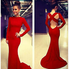 Sexy Women Cocktail Dress Party Formal Evening Ball Prom Dresses Wedding Gown