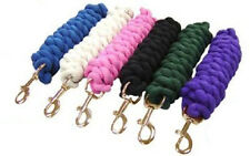 """Derby Cotton Horse Lead Ropes 5/8"""" X 6.5 ft Select Color Buy in Lots of 3,6,12"""