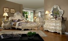 York Bombay Bedroom Set Antique White Cherry Brown High End