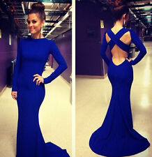 Sexy Women Mermaid Trumpet Bandage Prom Ball Party Dress Formal Evening Gown