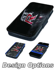 Nissan Skyline GTR Printed Faux Leather Flip Phone Cover Case