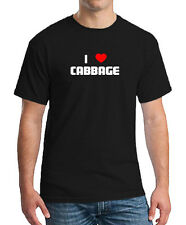 I LOVE CABBAGE FOOD BEVERAGE EAT DRINK T-SHIRT TEE SHIRT TOP