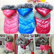 Padded Puppy Dogs Winter Hoodie Thicken Down Jacket Stitching Coat Pet Clothes