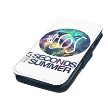 5sos Five Seconds of Summer Printed Faux Leather Flip Phone Cover Case