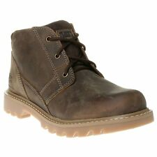 New Mens Caterpillar Brown Graft Leather Boots Chukka Lace Up DLS