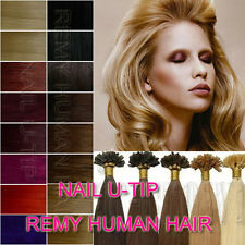 """18""""-32"""" Nail Tip/Keratin Remy Human Hair EXTENSION Any Color,50 Strands,100S"""