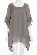 Tunic Plus Size Peasant Boho Hippie Chic Boutique Shark Bite Ruffles Sleeve New
